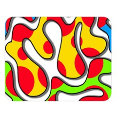 Colorful graffiti Double Sided Flano Blanket (Large)