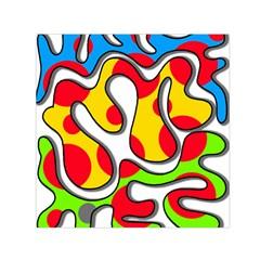 Colorful graffiti Small Satin Scarf (Square)