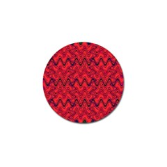 Red Wavey Squiggles Golf Ball Marker (4 pack)