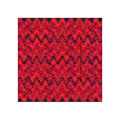Red Wavey Squiggles Acrylic Tangram Puzzle (4  x 4 )