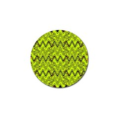 Yellow Wavey Squiggles Golf Ball Marker (10 pack)