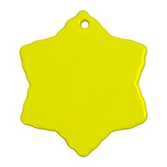 Yellow colour Snowflake Ornament (2-Side)