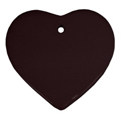 Woody Brown Colour Ornament (Heart)