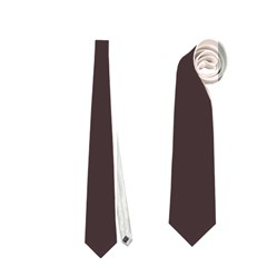 Woody Brown Colour Neckties (One Side)
