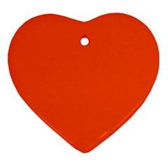 Vermilion Colour Ornament (Heart)