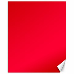 Torch Red Colour Canvas 11  x 14