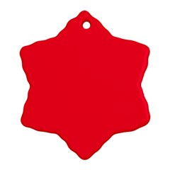 Torch Red Colour Snowflake Ornament (2-Side)