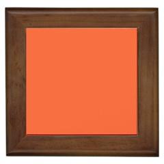 Tomato Colour Framed Tiles