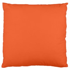 Tomato Colour Large Flano Cushion Case (One Side)