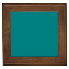 Teal Colour Framed Tiles