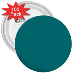 Teal Colour 3  Buttons (100 pack)