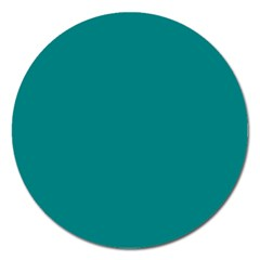 Teal Colour Magnet 5  (Round)