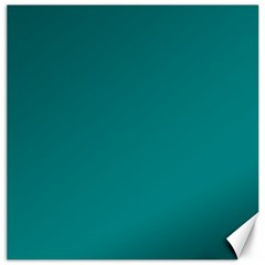 Teal Colour Canvas 20  x 20