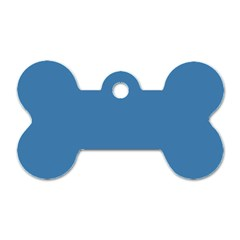 Steel Blue Colour Dog Tag Bone (Two Sides)