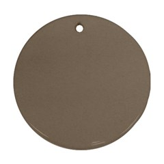 Squirrel Brown Colour Round Ornament (Two Sides)