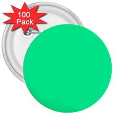 Spring Green Colour 3  Buttons (100 pack)