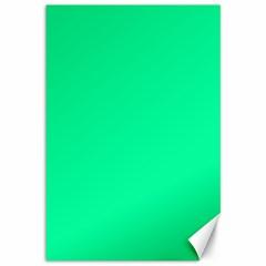 Spring Green Colour Canvas 12  x 18