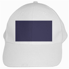 Smoky Blue Colour White Cap