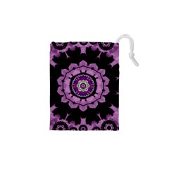 Decorative Leaf On Paper Mandala Drawstring Pouches (xs)