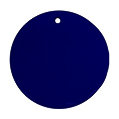 Sapphire Colour Round Ornament (Two Sides)