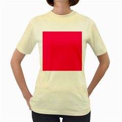 Rose Colour Women s Yellow T-Shirt