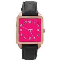 Razzmatazz Colour Rose Gold Leather Watch