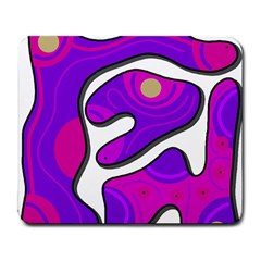Purple graffiti Large Mousepads