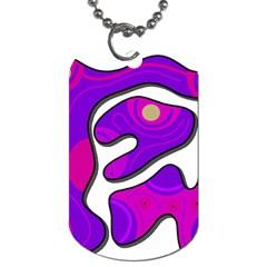 Purple graffiti Dog Tag (One Side)