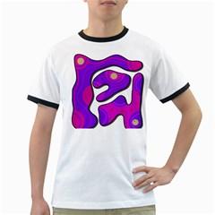 Purple graffiti Ringer T-Shirts