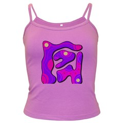 Purple graffiti Dark Spaghetti Tank