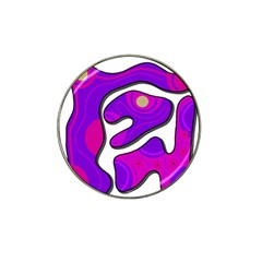 Purple graffiti Hat Clip Ball Marker