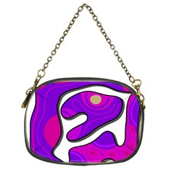 Purple graffiti Chain Purses (One Side)