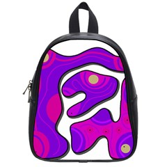 Purple graffiti School Bags (Small)