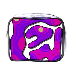 Purple graffiti Mini Toiletries Bags