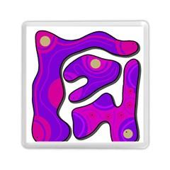 Purple graffiti Memory Card Reader (Square)