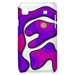 Purple graffiti Samsung Galaxy S i9000 Hardshell Case
