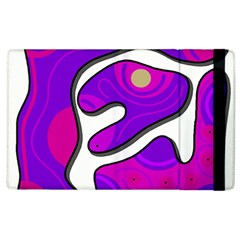 Purple graffiti Apple iPad 2 Flip Case