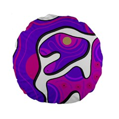 Purple graffiti Standard 15  Premium Round Cushions