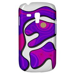 Purple graffiti Samsung Galaxy S3 MINI I8190 Hardshell Case