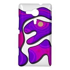 Purple graffiti Sony Xperia SP