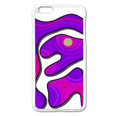Purple graffiti Apple iPhone 6 Plus/6S Plus Enamel White Case