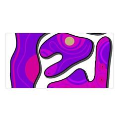 Purple graffiti Satin Shawl