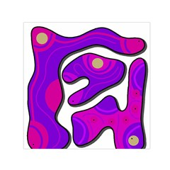 Purple graffiti Small Satin Scarf (Square)