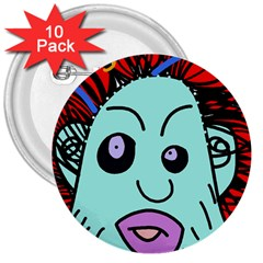 Caveman 3  Buttons (10 pack)