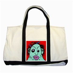 Caveman Two Tone Tote Bag