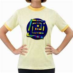 Maze Women s Fitted Ringer T-Shirts