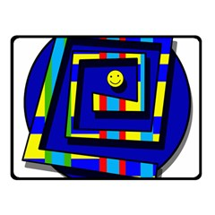 Maze Double Sided Fleece Blanket (Small)