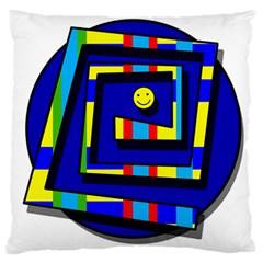 Maze Large Flano Cushion Case (One Side)
