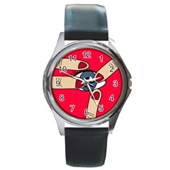 Poke in the eye Round Metal Watch