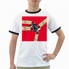 Poke in the eye Ringer T-Shirts